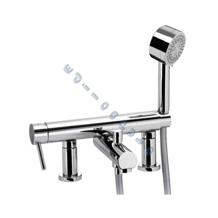 Idrotech rubinetto miscelatore bordo vasca da bagno con - Supporto per vasca da bagno ...