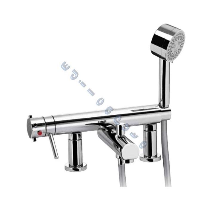 Idrotech rubinetto miscelatore termostatico per bordo - Supporto per vasca da bagno ...
