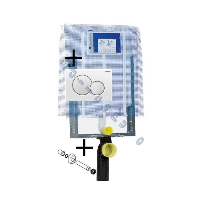 Cassetta scarico da incasso per sanitari sospesi combifix - Cassetta scarico acqua bagno ...