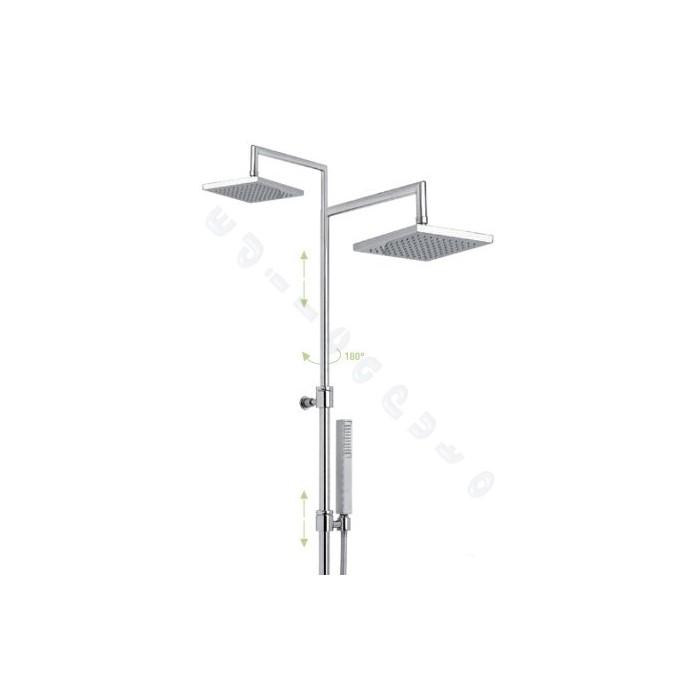 Colonna doccia in ottone telescopica e regolabile in - Altezza soffione doccia ...