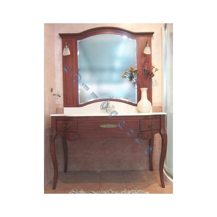 Mobile da bagno Impero di Epoque in legno massello con piano in marmo ...