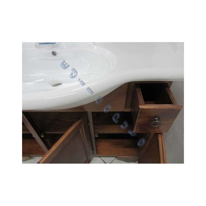 Mobile da bagno in legno finitura noce da cm 105 modello Monica su Edilcaputo Negozio Online