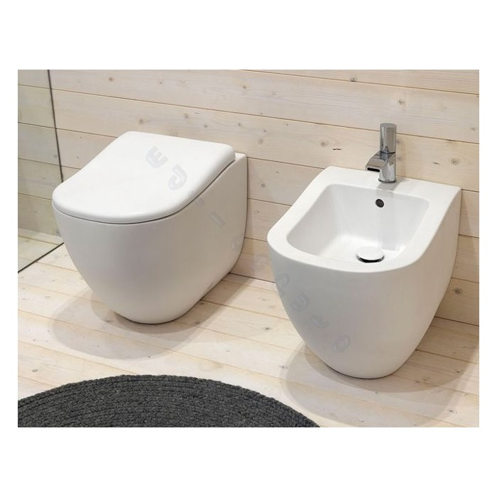 Sanitari per bagno fluid bidet water a pavimento e sedile - Rubinetti sanitari bagno ...