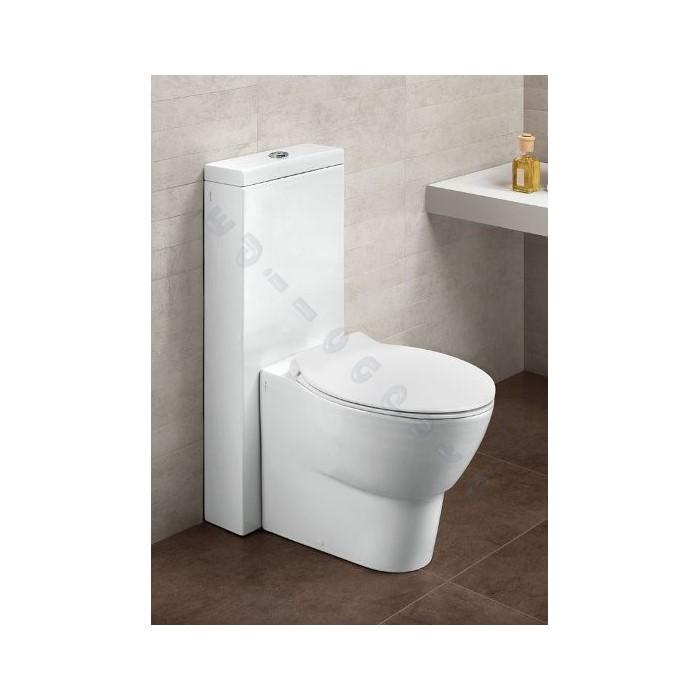 Sanitari bagno water a pavimento con cassetta in ceramica - Cassetta scarico acqua bagno ...