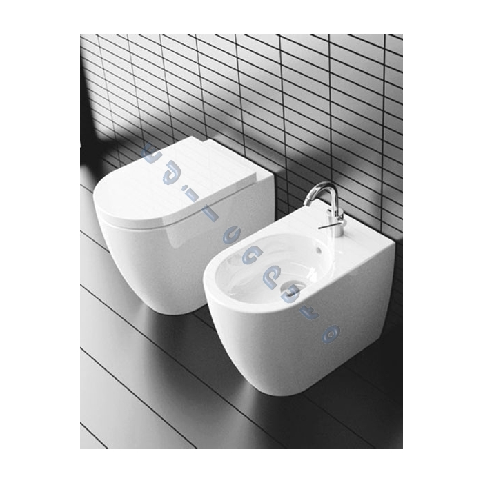 Sanitari per bagno bidet a pavimento smile di ceramica - Sanitari in ceramica per bagno ...