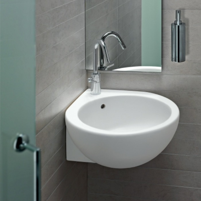 Sanitari bagno lavabo you me appoggio o sospeso angolo - Bagno ad angolo ...