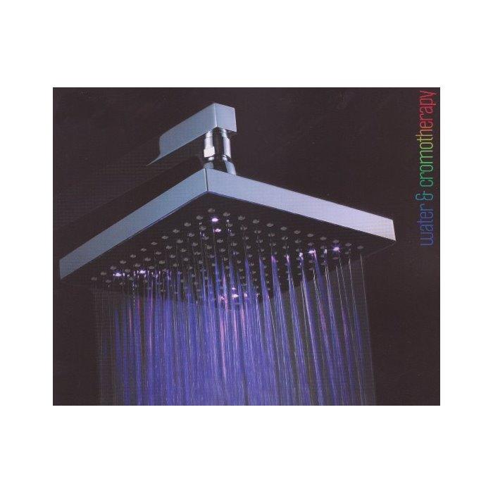 Soffione doccia quadrato da cm 20x20 con led colorati - Doccia con led colorati ...