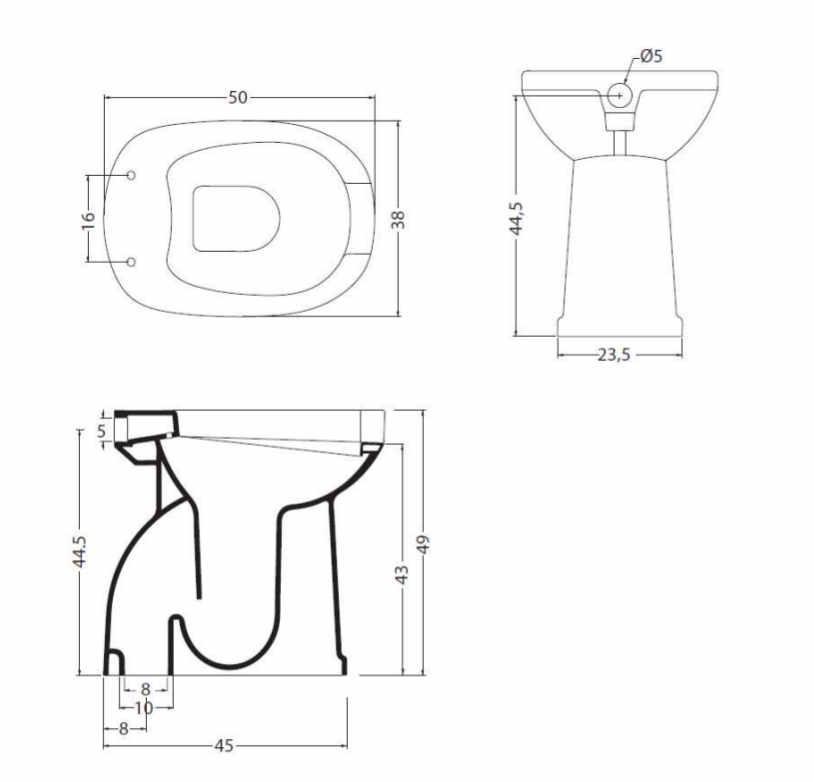 Sanitari bagno water vaso per disabili anziani terza età con apertura frontale  eBay