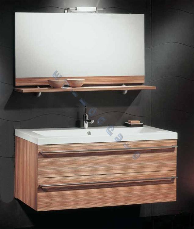 Mobile bagno sospeso in nobilitato rovere o wenge 39 ebay - Mobile bagno rovere sbiancato ...