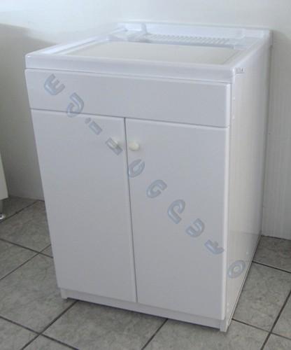 Lavatoio lavapanni per esterno in pvc cm 60x60 bianco for Lavatoio esterno