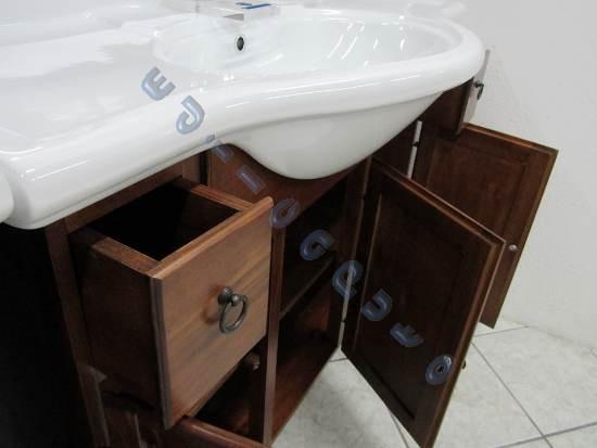 Mobile da bagno in legno finitura noce da cm 105 con - Mobile bagno usato ebay ...