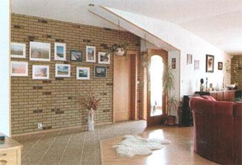 Mattoncino per rivestimento muro interno colore rosso - Mattoncini per rivestimento interno ...