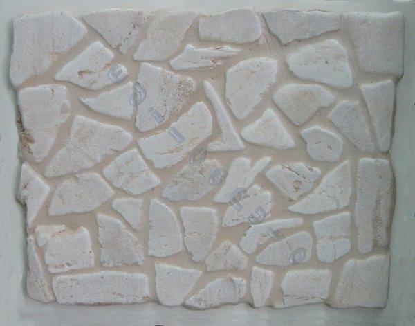 Rivestimento pavimento ciotoli pietra naturale chiara per interno esterno - Rivestimento cucina finta pietra ...