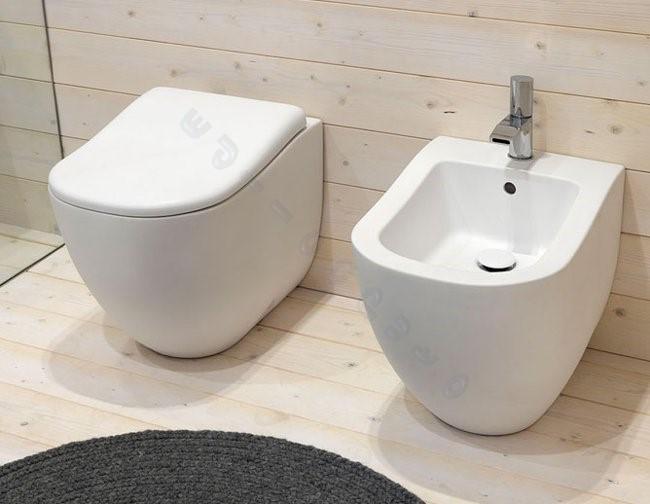 Sanitari bagno fluid water bidet e coprivaso filo muro - Sanitari bagno filo muro ...