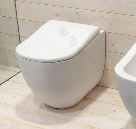 Sanitari bagno fluid water coprivaso filo muro parete - Sanitari bagno filo muro ...