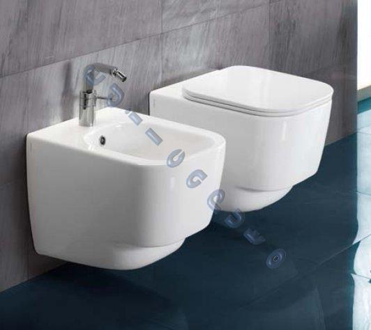 Sanitari bagno sospesi fusion 48 water bidet sedile frizionato iva 22 comp ebay - Sanitari bagno misure ridotte ...