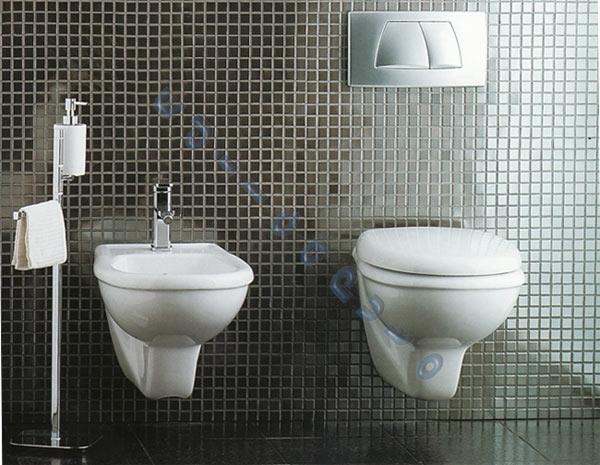 Sanitari bagno lara sospesi water bidet sedile in termoindurente ebay - Vendita sanitari bagno ...