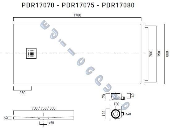 Piatto doccia rettangolare 170x80 slim sottile cm 2 5 in - Piatto doccia marmogres ...