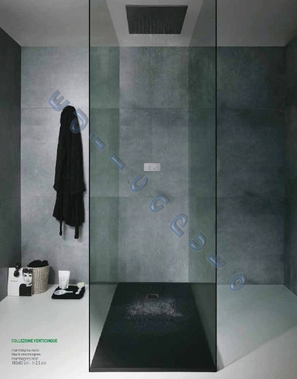 Piatto doccia rettangolare 70x90 slim sottile cm 2 5 in - Piatto doccia nero ...