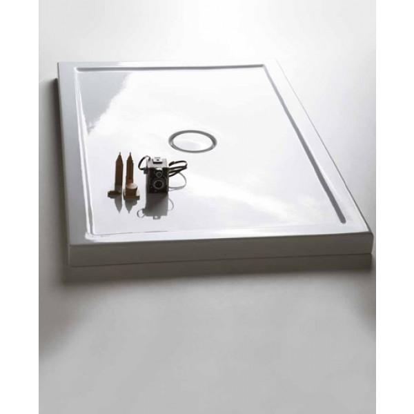 Piatto doccia slim in ceramica 80x120 h6 bianco di for Piatto doccia cielo