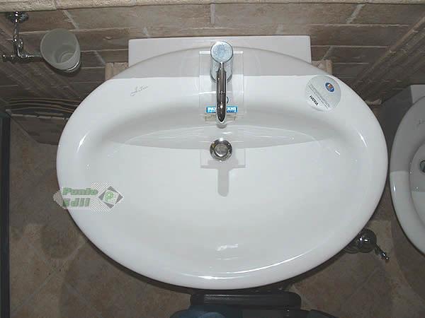 Sanitari bagno sculture lavabo da appoggio da cm 77 hatria - Quanto costano i sanitari del bagno ...
