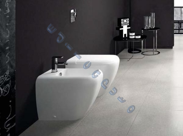 Shui sanitari bagno filo muro vaso bidet sedile 3pz - Sanitari bagno filo muro ...