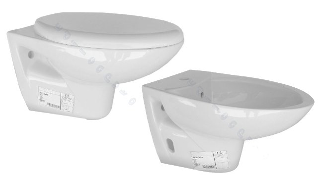 Sanitari bagno bidet e vaso sospeso con coprivaso modello for Sanitari sospesi ideal standard