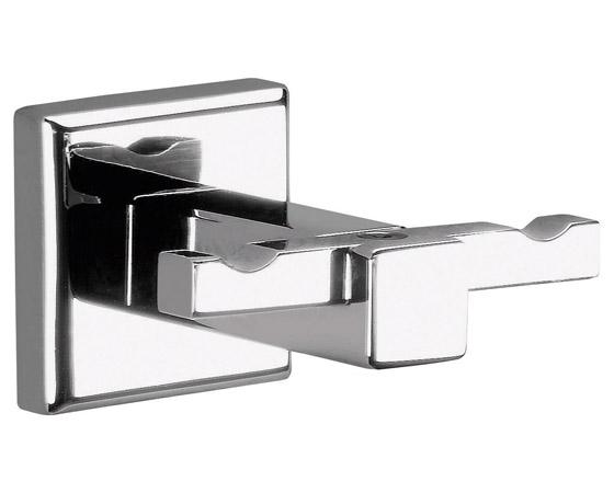 Accessori bagno appendino doppio porta accappatoio - Porta accappatoio da doccia ...