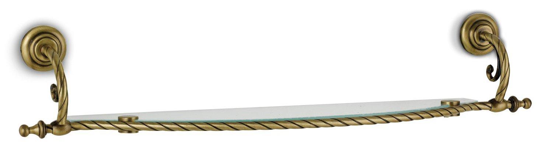 Accessori bagno pensile con mensole in vetro satinato Edera