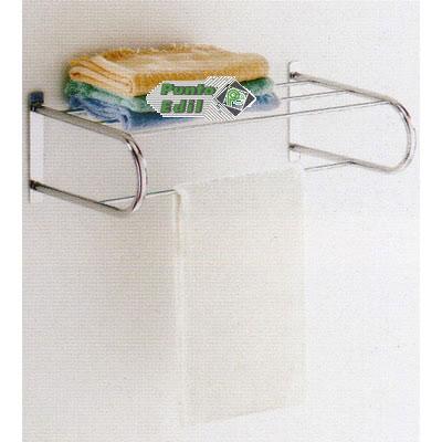 Accessori bagno mensola porta teli asciugamano in ottone - Altezza porta asciugamani ...