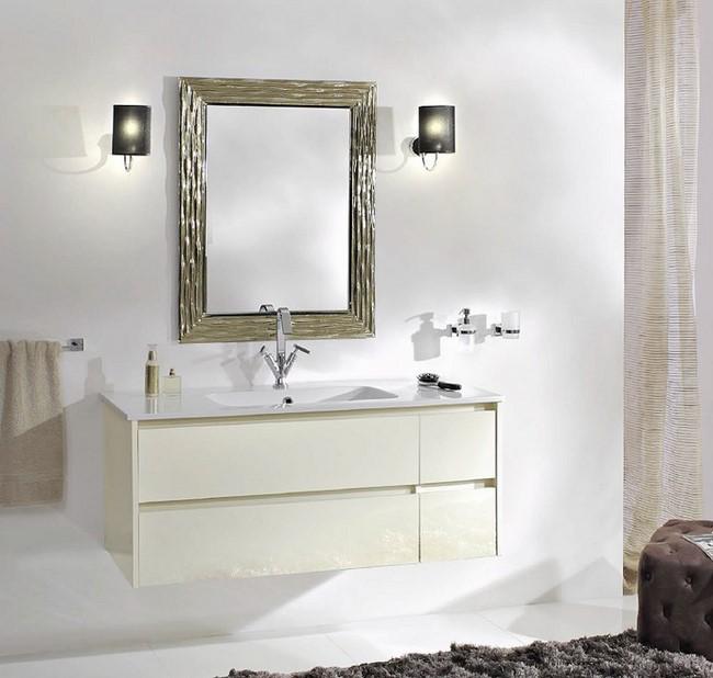 Mobile da bagno sospeso akron con lavabo in tecnoril da cm 120 e specchiera ebay - Mobili bagno ebay ...