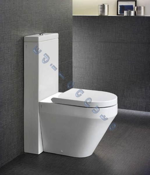 Sanitari bagno vaso bidet cassetta monolith e sedile for Vater con bidet