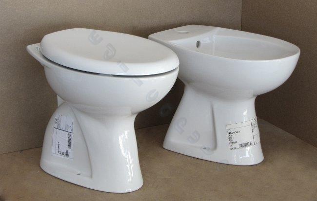 Sanitari bagno tenax ideal standard vaso e bidet completo di coprivaso ebay - Prezzi mobili bagno ideal standard ...